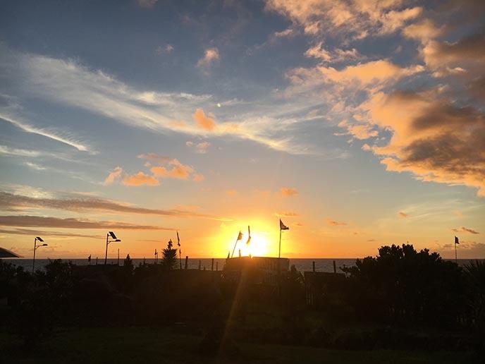 rapa nui sunset easter island
