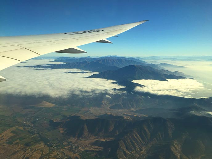 latam airplane wing window view