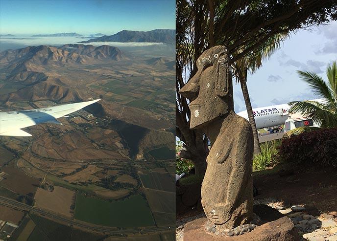 rapa nui easter island airport statue