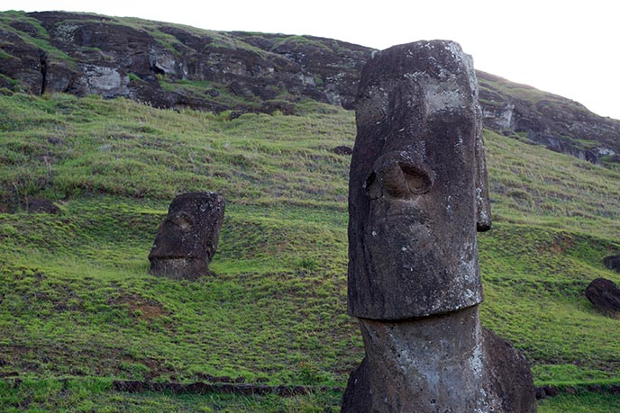 most famous moai easter island heads