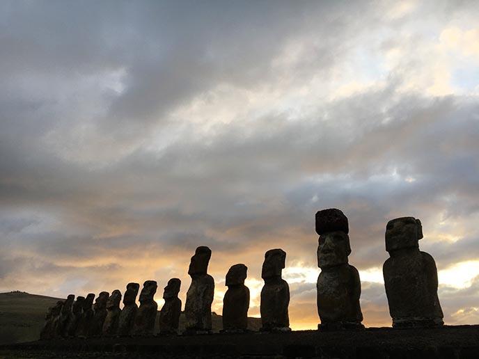 biggest moai statues easter island