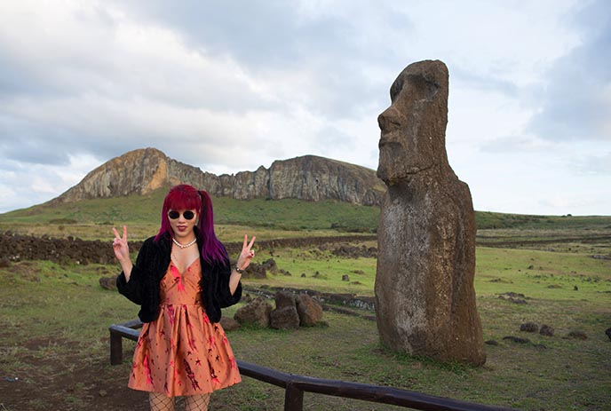 japan travelling moai tongariki