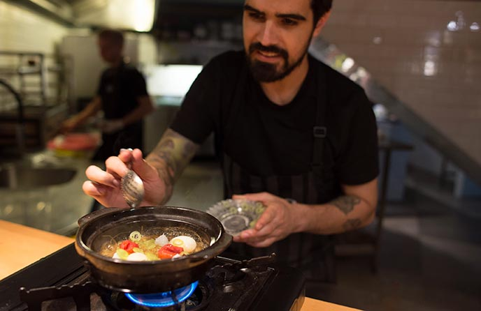 de patio restaurant chef chile