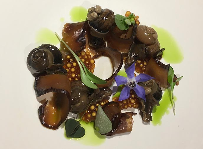 snails salad de patio santiago