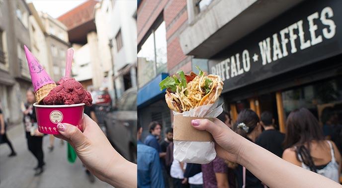 santiago la rosa gelato street food