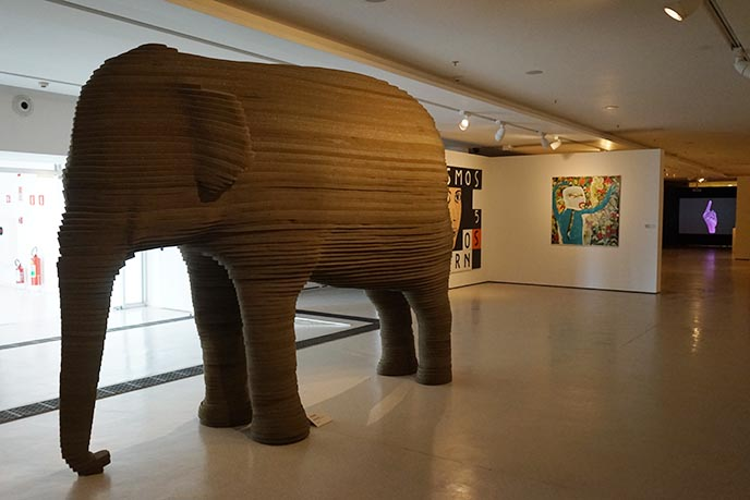 giant elephant modern art sculpture