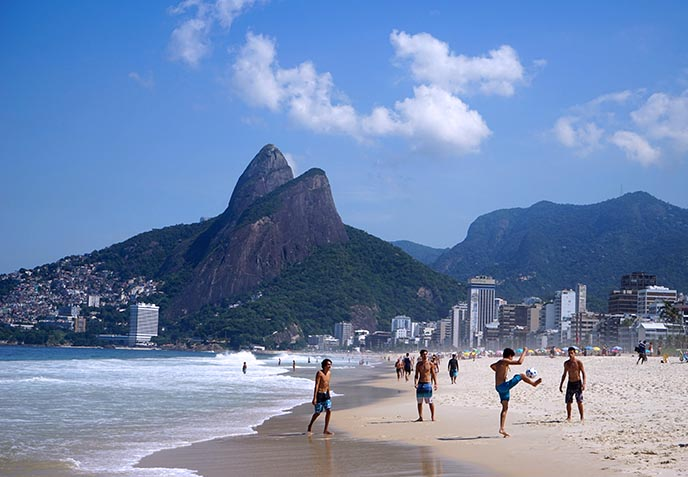 ipanema beach soccer players