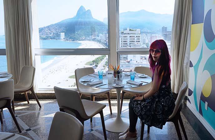 ipanema rio restaurant with view