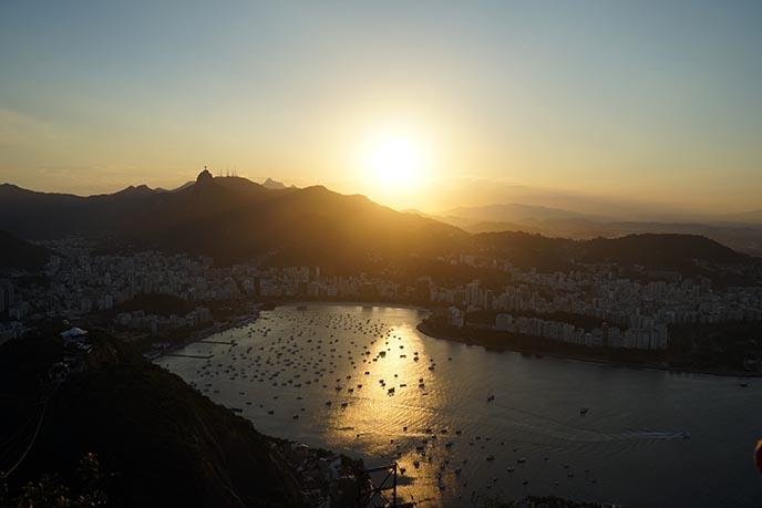sunset sugarloaf mountain view