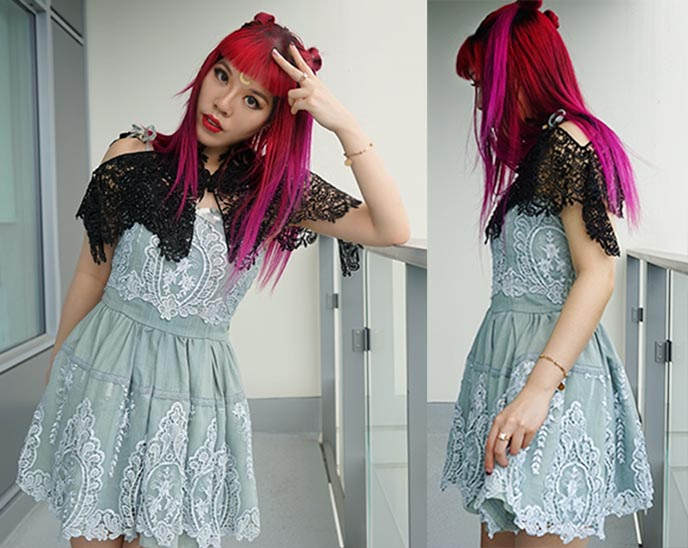 pheren couture cape, liz lisa my melody dress