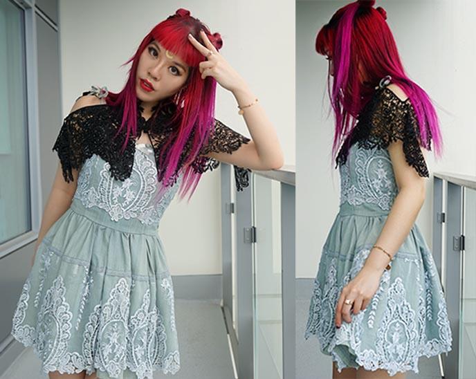 pheren couture cape, liz lisa my melody dress