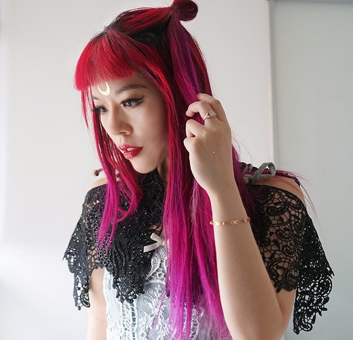 sailor moon forehead tattoo sticker