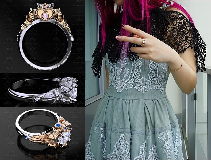 sapphire studios design sailor moon prism ring