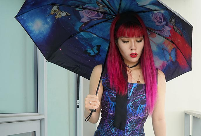 colorful luxury umbrella parasol