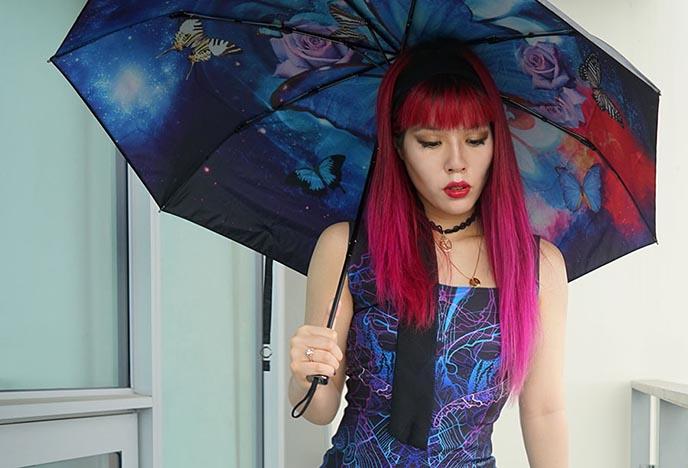 colorful luxury umbrella parasol