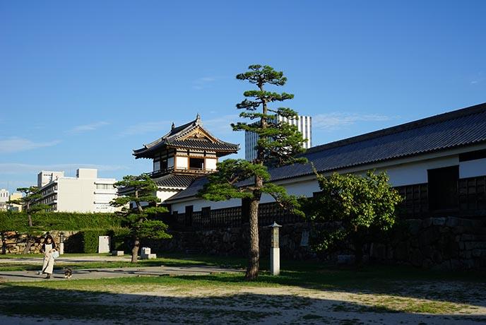interior courtyard hiroshima carp castle