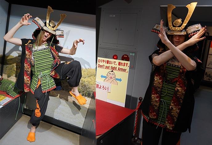 japanese samurai armor costume