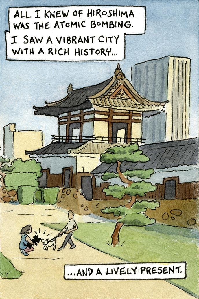 hiroshima japan travel postcard artpostc
