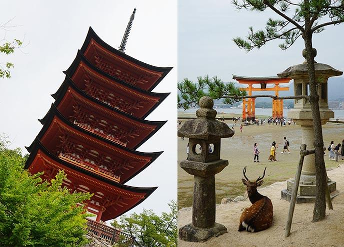 Gojunoto Pagoda miyajima castle Gojuno To