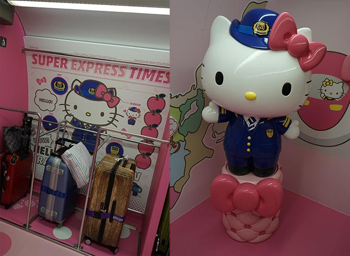 train conductor hello kitty statue
