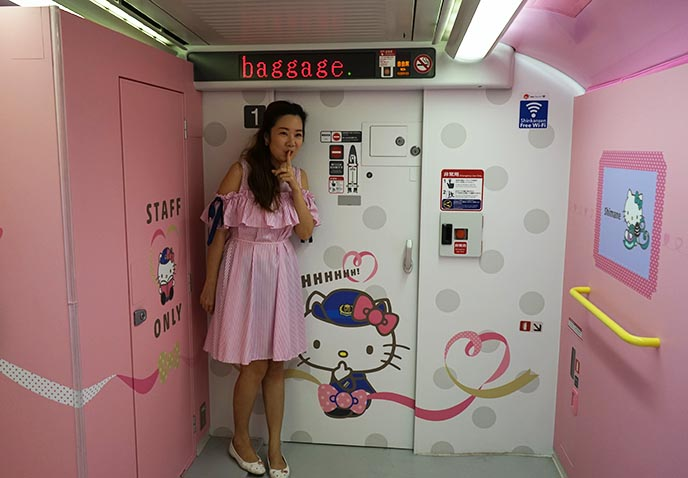 hello kitty train design kawaii
