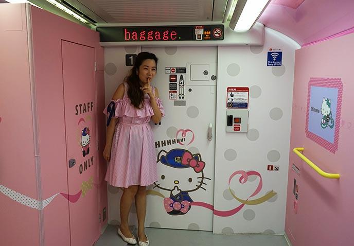hello kitty train design kawaii