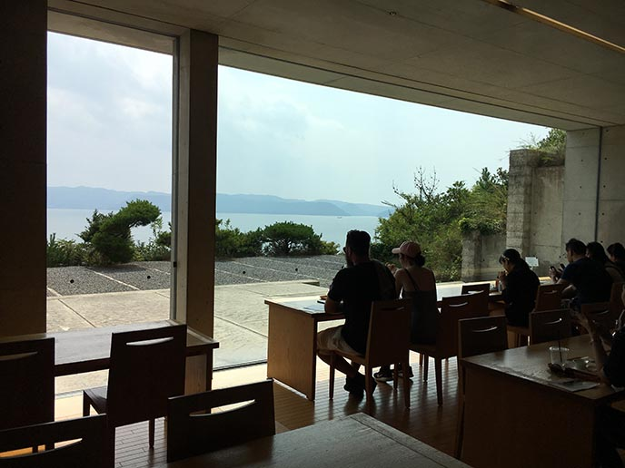 chichu naoshima cafe interior