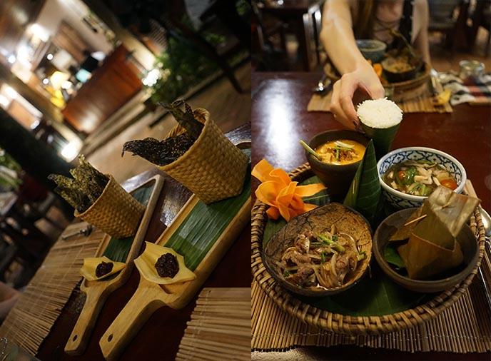 traditional laos food luang prabang