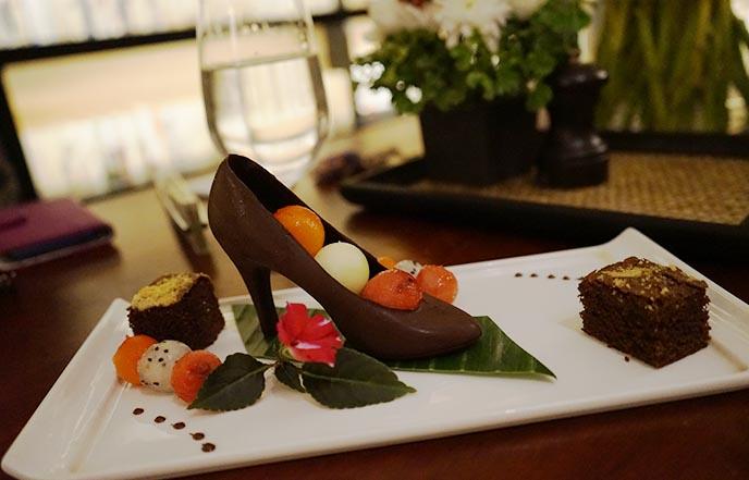 chocolate shaped shoe high heels dessert