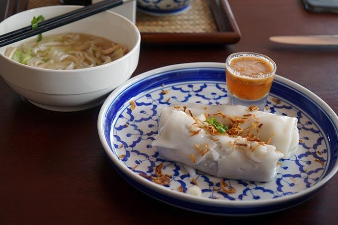 laos rice rolls noodle soup