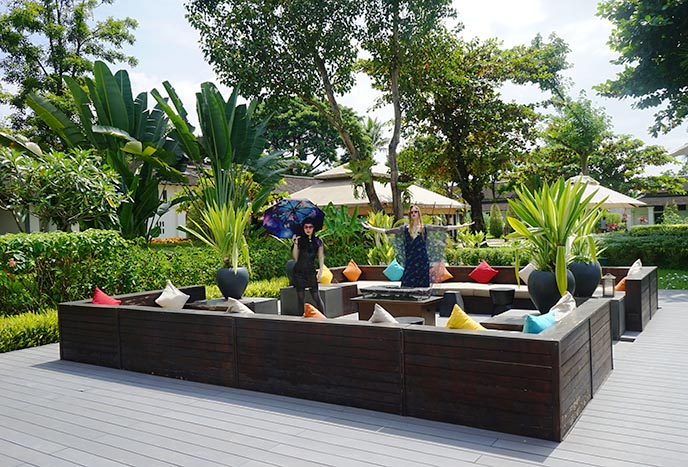 laos lounge swimming pool hotel