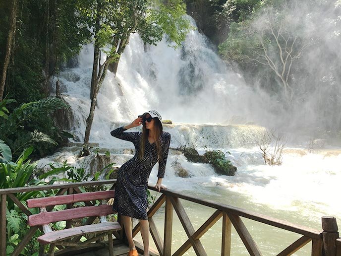 kuang xi waterfalls secret pool