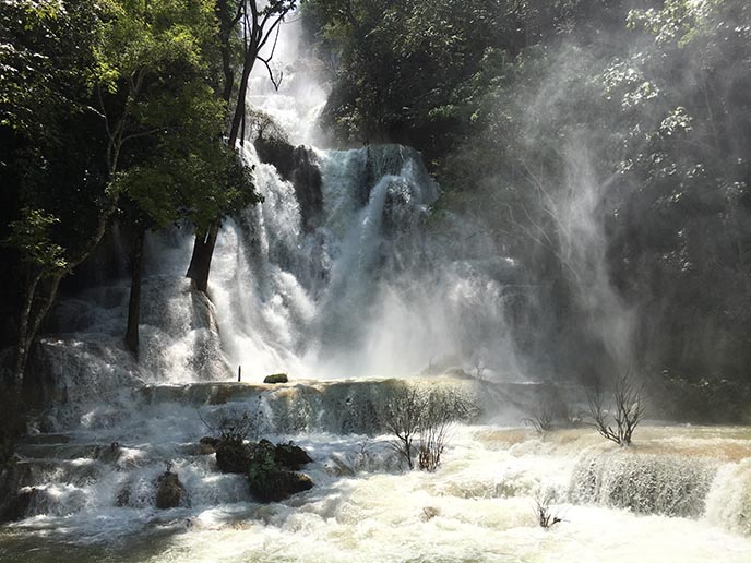 famous waterfalls laos