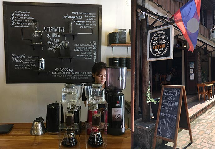 saffron coffee shop cafe luang prabang