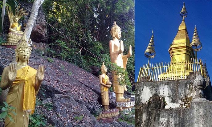 phousi mountain luang prabang gold stupa