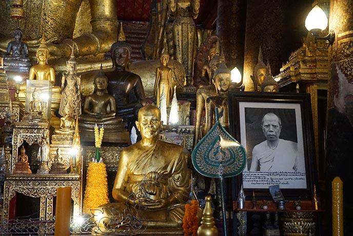 golden buddhas statues luang prabang