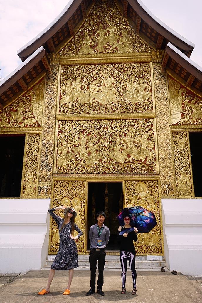 golden famous temple luang prabang laos
