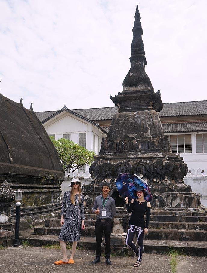 luang prabang buddhist stupa wat mai