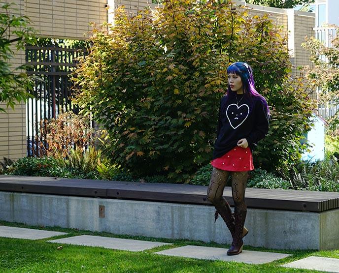 morph8ne badmood heart face shirt skirt