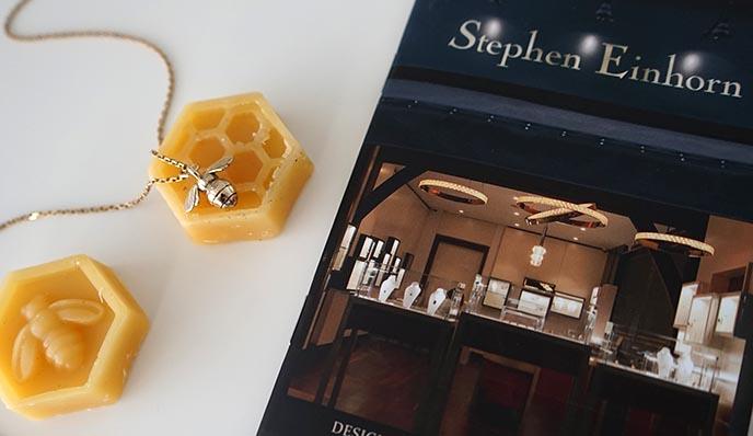 alternative goth jewelry bee necklaces