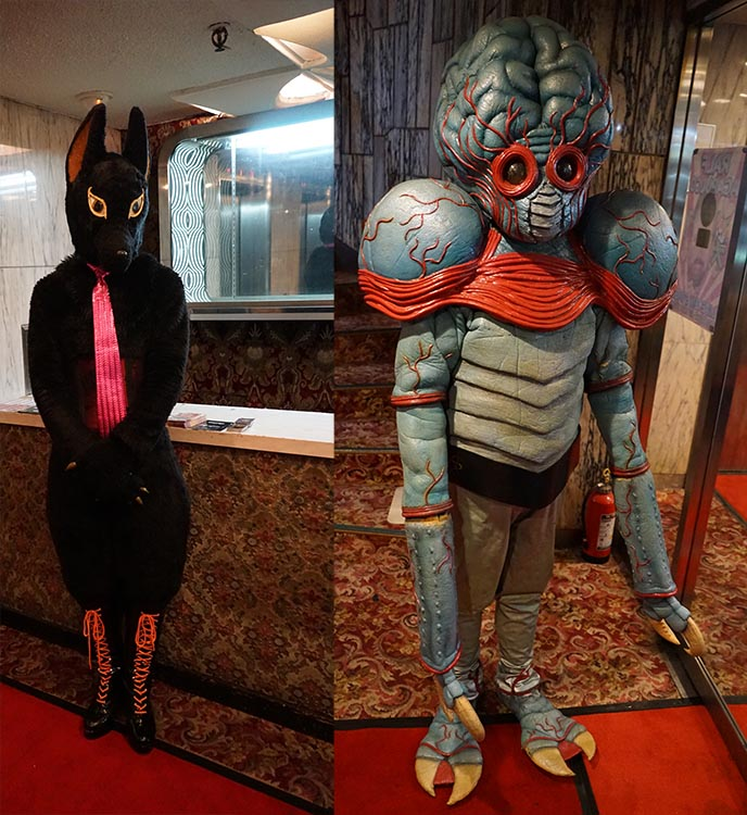 japanese alien costume creepy horror