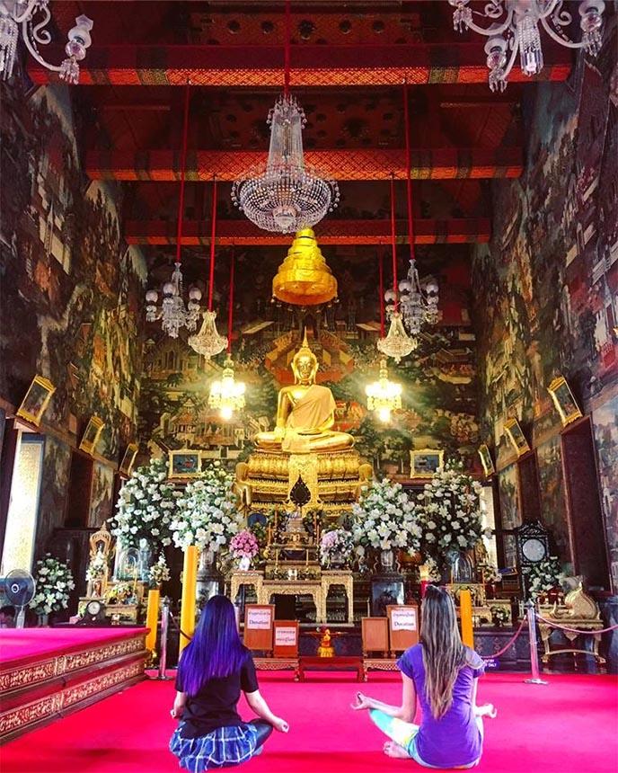 bangkok golden buddha temple statue, off beaten path hidden secret temples bangkok thailand, travel bloggers press trip bangkok thai