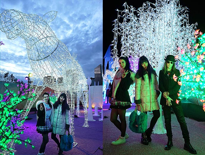 aurora winter festival vancouver, aurora winter fest christmas lights, xmas holiday markets vancouver bc