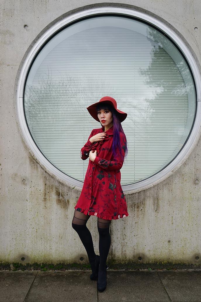 red hat dress goth dresses
