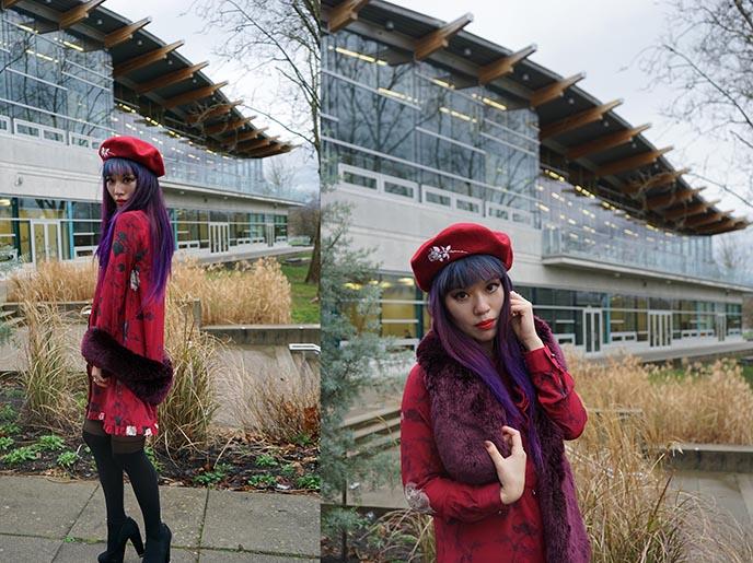 rose beret french hats mary wyatt clothing