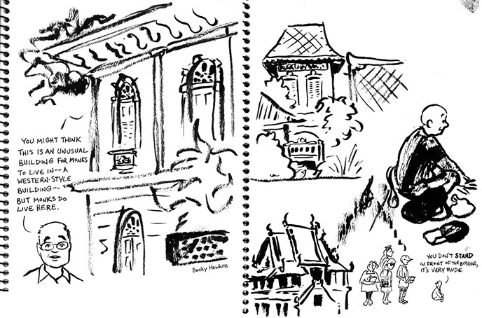 thai traveling drawings