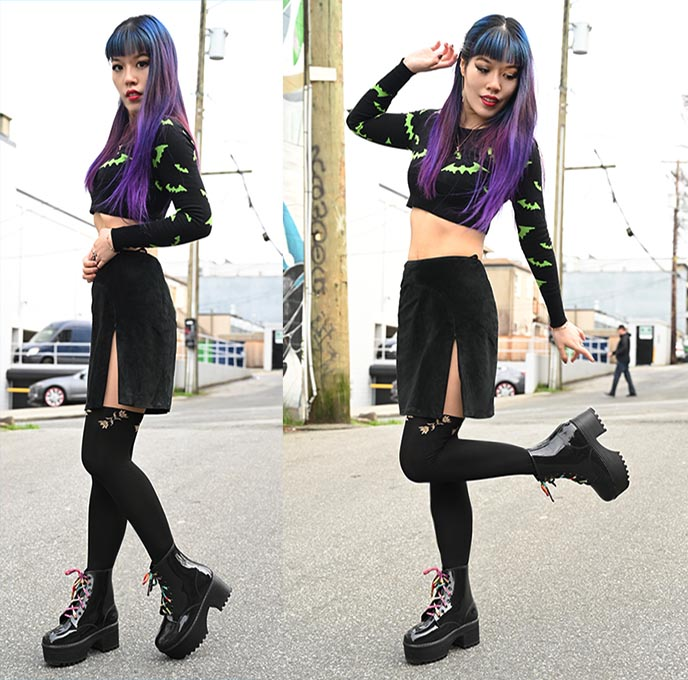 gothic jeffrey campbell black platform boots heels