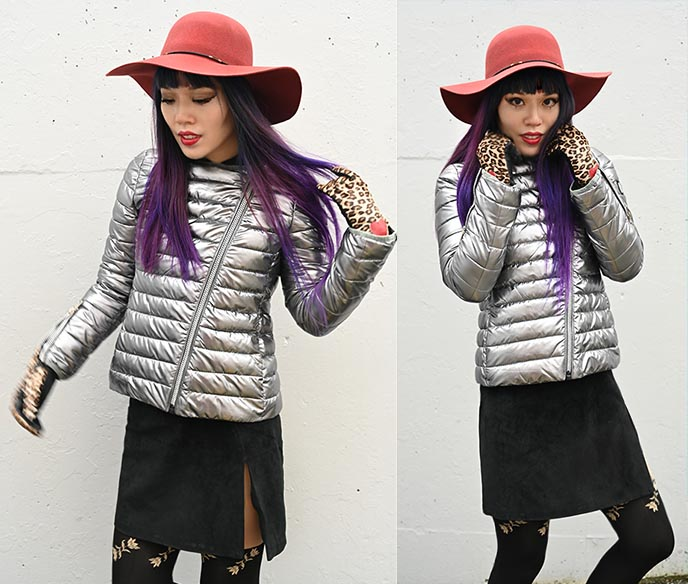 silver puffer jacket space coats