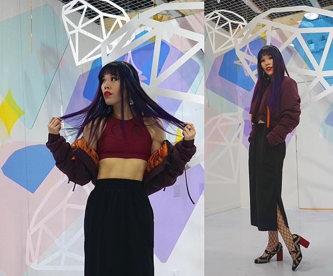 charli cohen skirt, jacket model