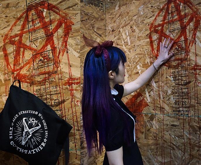 alex streeter devil pentagram bag